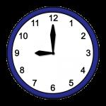 9.00 Uhr